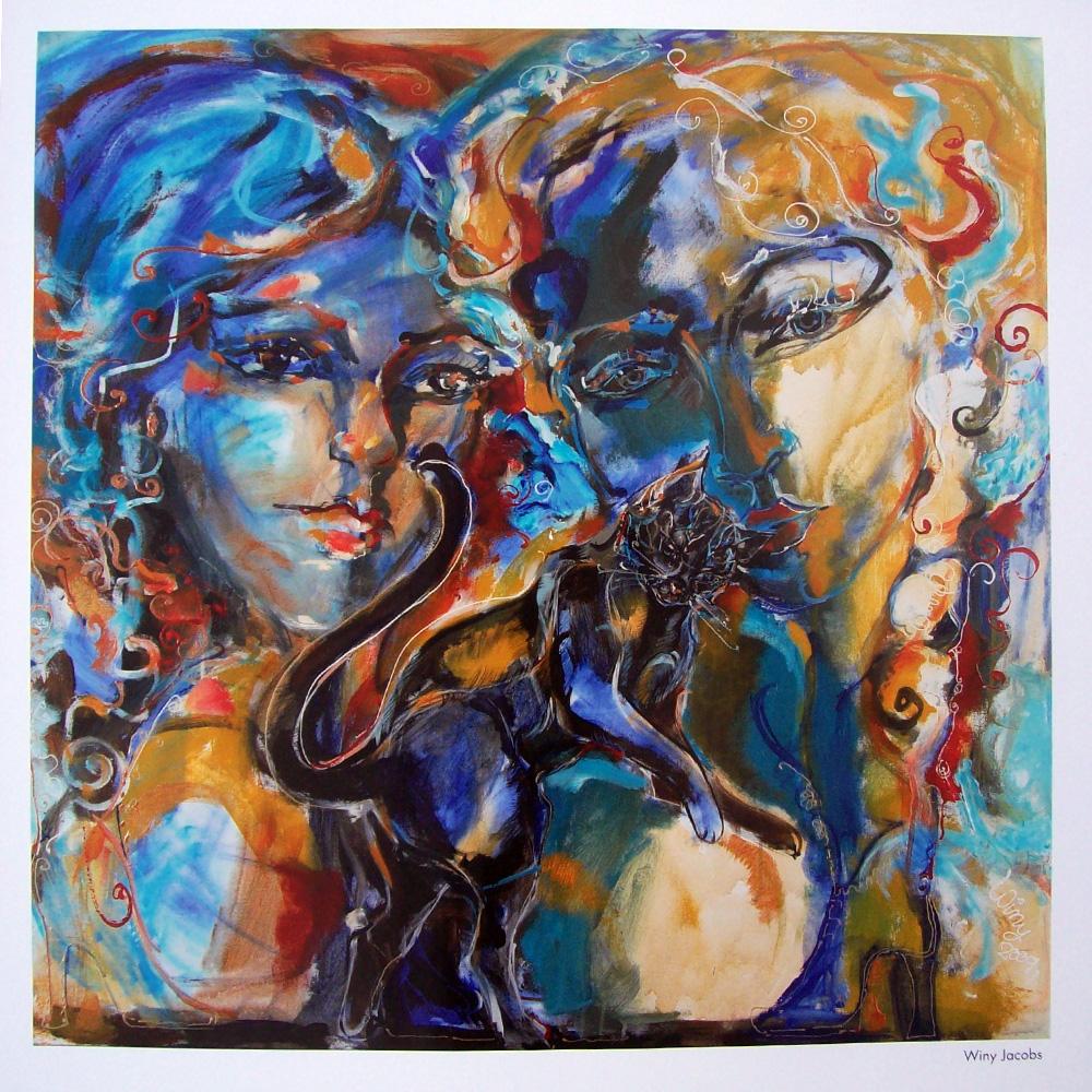Schilderij door Winy Jacobs
