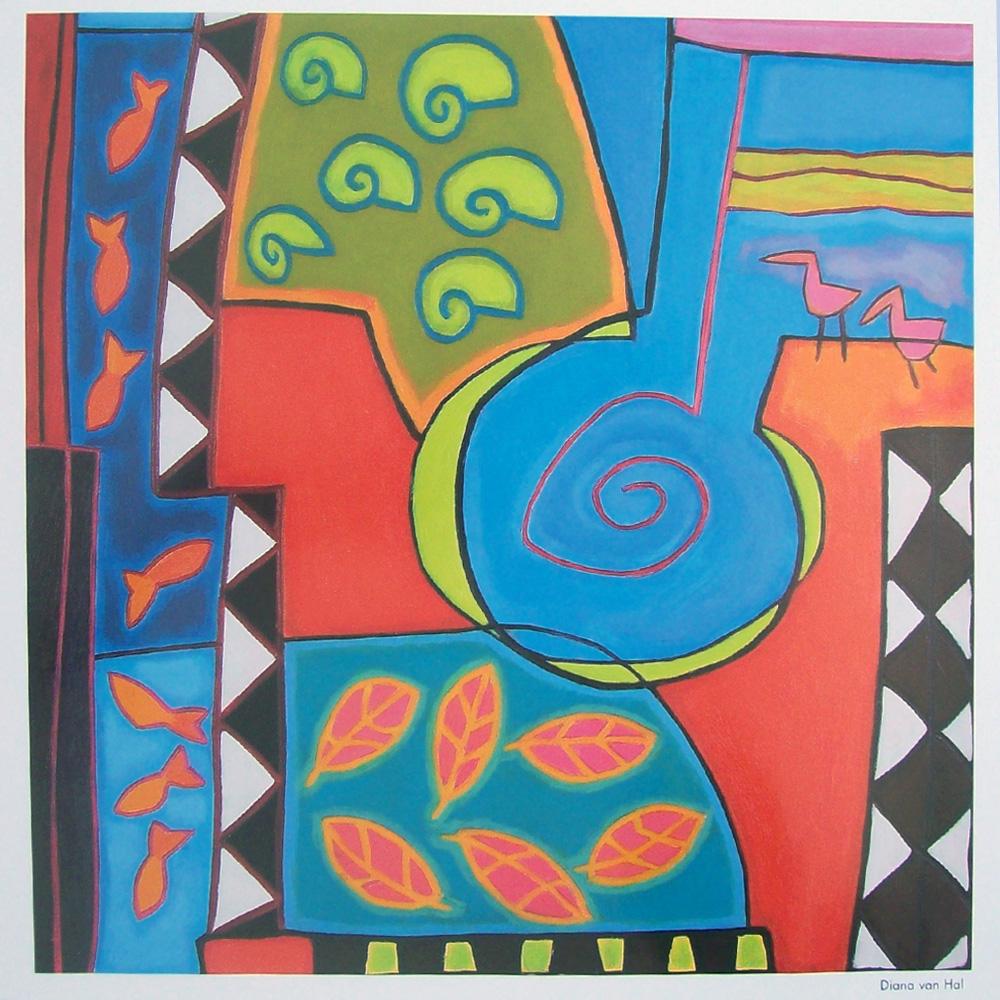 Schilderij door Diana van Hal